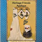 Black Americana OOP HERITAGE AA FRIENDS APPLIQUE SEWING PATTERNS MINT OZARK CRAFTS 1986
