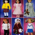 "AMERICAN GIRL 6 OUTFITS! 18"" DOLL WARDROBE PATTERN + McCALL 3900 MINT UNCUT"