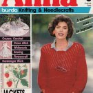 ANNA BURDA KNITTING NEEDLECRAFT SEWING CROCHET 1986 #8 AUGUST VINTAGE MAGAZINE