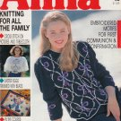 ANNA BURDA KNITTING NEEDLECRAFT SEWING CROCHET 1990 #2 FEBRUARY VINTAGE MAGAZINE