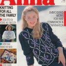 ANNA BURDA KNITTING NEEDLECRAFT SEWING CROCHET 1990 #2 FEBRUARY VINTAGE MAGAZINE