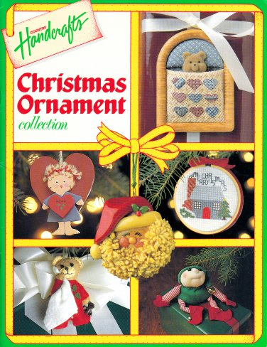 CHRISTMAS ORNAMENTS COUNTRY HANDCRAFTS FULL-SIZE PATTERNS KNIT SEW CROSS STITCH