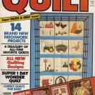 QUILT MAGAZINE SUMMER 1982 APPLIQUE STENCIL EMBROIDER PIECE FULL-SIZE PATTERNS