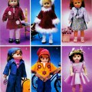 "18""  DOLL PATTERN McCALL 3040 MINT UNCUT AM.GIRL BACKPACK PONCHO + OUTFITS!"