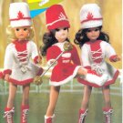 EMU #6789 SINDY DOLL KNITTED MAJORETTE UNIFORM OUTFIT - HAT BOOTS DRESS PANTS