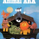 ANIMAL ARK GINGHAM & CALICO FUN STUFFED ANIMALS MONKEY LION REINDEER NEEDLEWORK