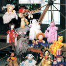YARN MOP DOLLS ANNIE'S ATTIC #87007 12 DOLL PATTERNS STATUE OF LIBERTY BRIDE CAT +