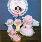 SOFT SCULPTURE DOLLS APPLE DUMPLINS' ANGELS WREATHS, BAZAAR GIFTS, BABY, MAGNETS