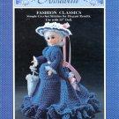 "ANNABELLE * FIBRE CRAFT CROCHET 15"" DOLL CLOTHES & PARASOL 1989 PATTERNS OOP"