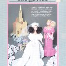 "THE BRIDE * FIBRE CRAFT CROCHET W BEADS! 11"" FASHION DOLL CLOTHES PATTERNS OOP"