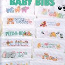 BIG BOOK OF BABY BIBS CROSS STITCH 24 DESIGNS! LEISURE ARTS 2806