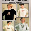 MIMI'S COUNTRY SWEATS CROSS STITCH LEISURE ARTS #503 SWEATSHIRT DESIGNS