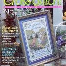 10 COMMANDMENTS + BIBLE COVER - PANSIES - POTHOLDERS CROSS STITCH MAGAZINE #22