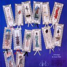 BOOKMARK ART ORIGINAL CROSS STITCH JEANETTE CREWS 14 INTRICATE DESIGNS
