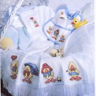 TRAIN GOLDFISH AFGHAN BABY DUCKIES BOUQUETS BEARS LOVE CROSS STITCH MAG. MAR '92