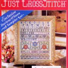 BABY ROSES CHERUB AFGHAN PILLOWS *WOW SAMPLER* CROSS JUST CROSS STITCH FEB '96