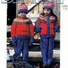 BERNAT COUNTRY KIDS PATTERN CHUNKY WEIGHT #1298 VOL.2. HATS CARDIGANS SWEATERS