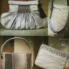 SMOCKED EVENING BAGS VOGUE 7675 BEAUTIFUL PATTERNS