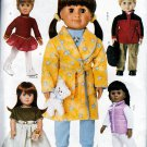 "18"" AMERICAN GIRL DOLL TOTAL WARDROBE OOP BUTTERICK 3329  PATTERN UNCUT"