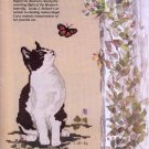 JUST CROSS STITCH JACOBEAN CATS SAMPLERS GIFTS 4 MOM, DAD & GRADUATE MAY '88