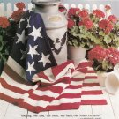 LIGHTHOUSE CROSS STITCH SAM UNCLE SAM KNIT AMERICAN AFGHAN GIFTS LEISURE ARTS