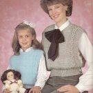 QUICK KNIT VESTS EXTRA EASY DESIGNS LEISURE ARTS #346