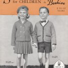 BEEHIVE SPEEDKNITS FOR CHILDREN #71 VINTAGE 2 TO 12 YEARS PATONS & BALDWIN