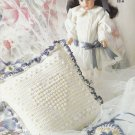 CROCHET LUSTER SHEEN FOR BABY & HOME TABLECLOTH PICTURE FRAME PILLOW PLACE MATS