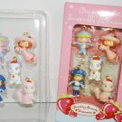 *5 PIECE STRAWBERRY SHORTCAKE CHRISTMAS TREE ORNAMENTS DOLLS PETS MINT IN BOX.