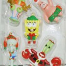 SPONGEBOB SQUAREPANTS GARY SQUIDWARD KRABS 5 PIECE CHRISTMAS TREE ORNAMENTS MIB