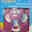 CARE BEAR CHRISTMAS HEIRLOOM 3 PC ORNAMENTS GOODNIGHT BEAR MINT IN BOX