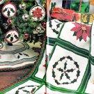 KNIT & CROCHET MCCALLS 1989 CHRISTMAS BARBIE ORNAMENTS DOLL MINIATURES DOGCOAT AFGHAN HAT