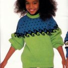 KIDSTUFF PATONS CHUNKY #675 APPROX. SIZES 4 - 10 SWEATERS CARDIGANS