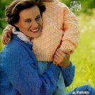 FAMILY KNITS MOM DAD KIDS SWEATERS CARDIGANS PATONS #648 BEEHIVE CHUNKY NORSPUN