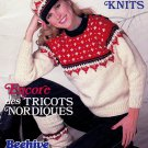 MORE NORDIC KNITS BEEHIVE PATONS 452 JACKETS CARDIGANS SWEATERS HAT LEGWARMERS