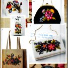 CREWEL EMBROIDERY BAGS - PURSES + ACCESSORIES SEWING PATTERN SIMPLICITY 5450