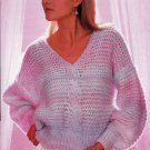 ON THE GO HURRY KNITS BEEHIVE PATONS 464  VEST PULLOVERS SWEATERS