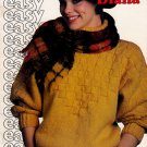 KNIT SWEATERS CARDIGANS LACY DOLMAN SLIPOVERS PATONS 458