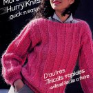 MORE HURRY KNITS QUICK 'N EASY BEEHIVE PATONS 454 SWEATERS PULLOVERS JACKET