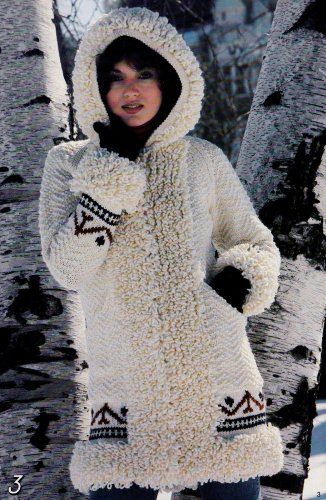 FAMILY KNITS DOUBLE BEEHIVE 436 FAIR ISLE CABLES CARDIGAN PULLOVER COATS JACKET