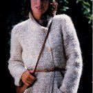 PATONS PRINCESS #443 CARDIGAN PULLOVER LONG-LINE VEST JACKET HAT