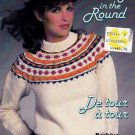 KNITTING IN ROUND BEEHIVE PATONS #446 FAMILY YOKE STYLE KNITS SWEATERS