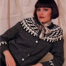 DOUBLE KNITTING FASHION BEEHIVE #441 FAIR ISLE CARDIGAN VESTS JACKET SWEATERS