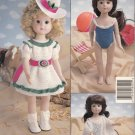 "SUMMER DAYS CROCHET 14"" DOLL COLLECTION CLOTHES PATTERN 8401 AMERICAN NEEDLEWORK"