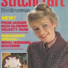 STITCHCRAFT AUGUST 1981 NEEDLEWORK CROCHET KNIT EMBROIDER VINTAGE MAGAZINE
