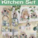 PLASTIC CANVAS BUSY BEES KITCHEN SET CHIMES HOLDERS BOARD NEEDLECRAFT 842333