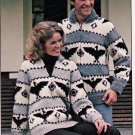 KNIT THUNDERBIRD TOTEM REINDEER PATONS 416 FISHERMAN GEESE JACKET PATTERNS