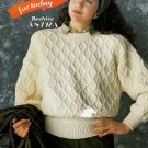 KNITS FOR TODAY MEN & LADIES SWEATERS VEST CARDIGAN BEEHIVE PATONS 617