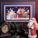 CHRISTMAS! MAIN ST. CHILD SANTA PANSY KISSMOOSE LOVE CROSS STITCH MAG. NOV. '90