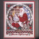 CHRISTMAS ORNAMENTS CROSS STITCH MADONNA SANTA'S WORKSHOP CRAFTS #1 CELEBRATIONS